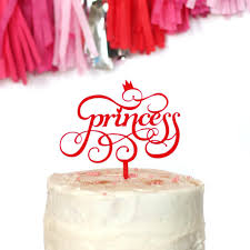 Princess Cake Topper Wants And Wishes