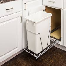 Trash Can Pullout Minute Organizers Under Sink Pull Out Bin Polished Chrome  Quart Single System ...