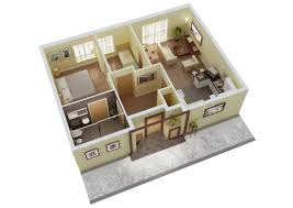 Stunning Small House Plans 3 Bedrooms 3d With Designs Ideas Home Floor Plan  Design More Bedroom Uniquebedroom