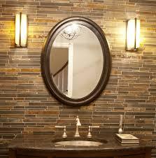 mirror wall. oval wood wall mirror e