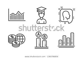 Student World Money Ab Testing Icons Stock Image Download Now