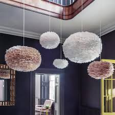 lighting shade. Brown And White Goose Feather Shades As Pendants Lighting Shade