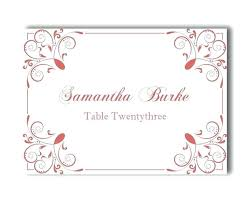 Diy Place Cards Wedding Template Templates Printable Card By Free
