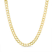 men s 4 7mm curb chain necklace in 14k gold