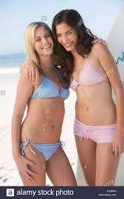 Young women in bikinis