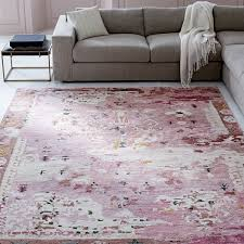 persian style rug pink