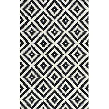 black and white rug mercury row hand tufted area reviews pattern quality just for you black and white pattern rug geometric