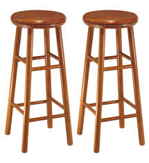30 inch wooden swivel bar stools cherry set of 2 image