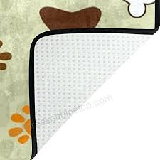 paw print rug hipster dog paw print bone area rug rugs non slip floor mat doormats