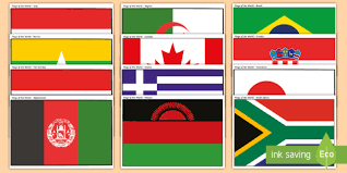 Download all the pages and create your own coloring book! Printable Flags From Around The World Posters Teacher Made