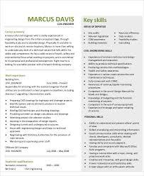 Skills For Engineering Resumes 54 Engineering Resume Templates Free Premium Templates