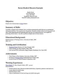Sample Resume For Practical Nursing Student Resume Ixiplay Free