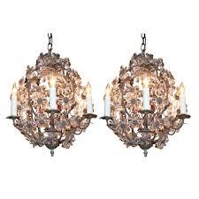 italian six light bronze pendant