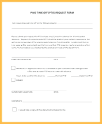Paid Time Off Form Template Service Call Form Template Paid Time Off Request Optional Pdf