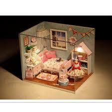 minature doll house furniture. Miniature Dollhouse Furniture Diy Minatura Wooden Doll House Handmade Model Building Kits Birthday Gift-Happy Little World Minature