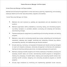 human resources manager job description free doc download benefits analyst job description