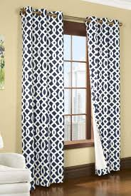 Navy Blue Patterned Curtains Beauteous Trellis Insulated Grommet Top Curtains Thermal Drapes Trellis