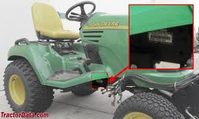 com john deere x tractor information photo of x485 serial number
