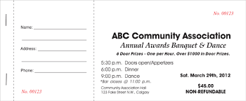 Banquet Tickets Sample Calgary Economy Printers Banquet Ticket Sample Calgary