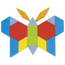 Pattern Blocks Mesmerizing Geometric Wooden Pattern Blocks