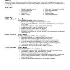 House Cleaning Resume Sample House Cleaning Resume Sample Stibera Resumes Objective Certificate 45
