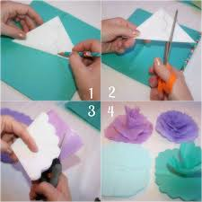 How To Make A Flower Out Of Tissue Paper Step By Step Tissue Paper Flower Instructions Rome Fontanacountryinn Com