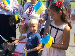 Girls who were chanting ukraine