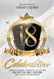 celebration flyer template. 18 Birthday Celebration flyer template PSD by FAS designer on