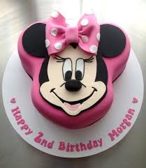 Minnie Mouse Birthday Cake Tempting Cakes Minnie Mouse Birthday