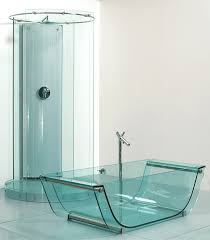 Amazing Clear Glass Bathtub For Sale 5 Tulip Glass Tub Transparent Glass  Floor Tiles