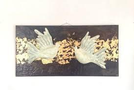 image 0 ceramic birds wall art 3d bird sculpture pigeons white