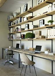 home office shelving solutions. Home Office Shelving Combining Floating And Hanging Solutions