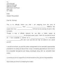 Resignation Template Uk Resignation Template