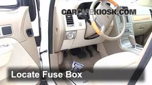 interior fuse box location 2007 2015 lincoln mkx 2007 lincoln locate interior fuse box and remove cover