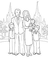 Small Picture A Happy Family At The San Diego LDS Temple Coloring Page