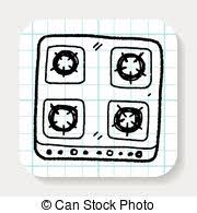 stove clipart black and white. gas stove doodle clipart black and white d