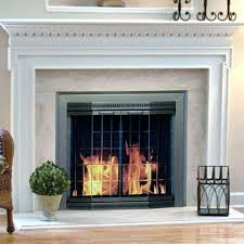 sliding fireplace screens glass screen fireplace fireplace surround stone doors top glass screens firescreen traditional ideas