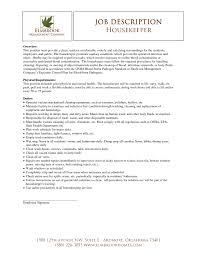 Hospital Housekeeping Duties Resume Free Resume Example And