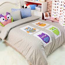 Applique owl cotton bed sets for kids,twin full queen cartoon ... & Applique owl cotton bed sets for kids,twin full queen cartoon,single double  home textile teens bed linen pillowcase duvet cover-in Bedding Sets from  Home ... Adamdwight.com
