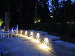 patio retaining wall lighting central pre mix blocks