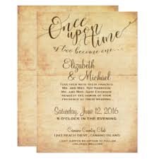 fairytale wedding invitations & announcements zazzle Time In Wedding Invitation fairytale wedding invitation once upon a time time lapse wedding invitation