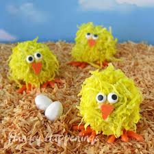 Coconut Chick Cake Balls Hungry Happenings Easter Recipe