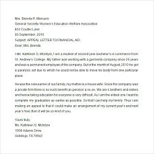 Academic Appeal Letter Stunning Appeal Sample Letter For Financial Aid Within Financial Aid Appeal