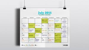 July 2015 Workout Calendar