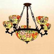 antique stained glass chandelier ceiling lights dragonfly shaped p