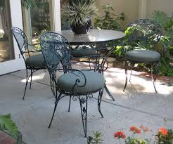 patio top vintage chair and wrought iron piece table chairs retro lawn metal outdoor