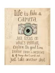 Life Is Like A Camera Prints By Katie Doucette At AllPosters Magnificent Life Ius