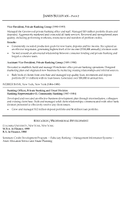 bank sample resume banking resume example