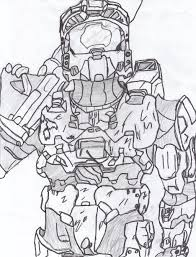 Halo Spartan Coloring Pages On Page Coloring Pages
