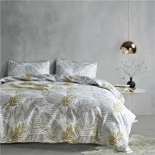 grey gold leaf pattern 2 usa twin queen king 3 size bedding sets soft kids duvet cover set quilt cover bed set bedclothes bedding comforter sets designer